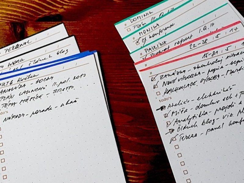 Hipster PDA aneb jak mi papírové karty zjednodušily život