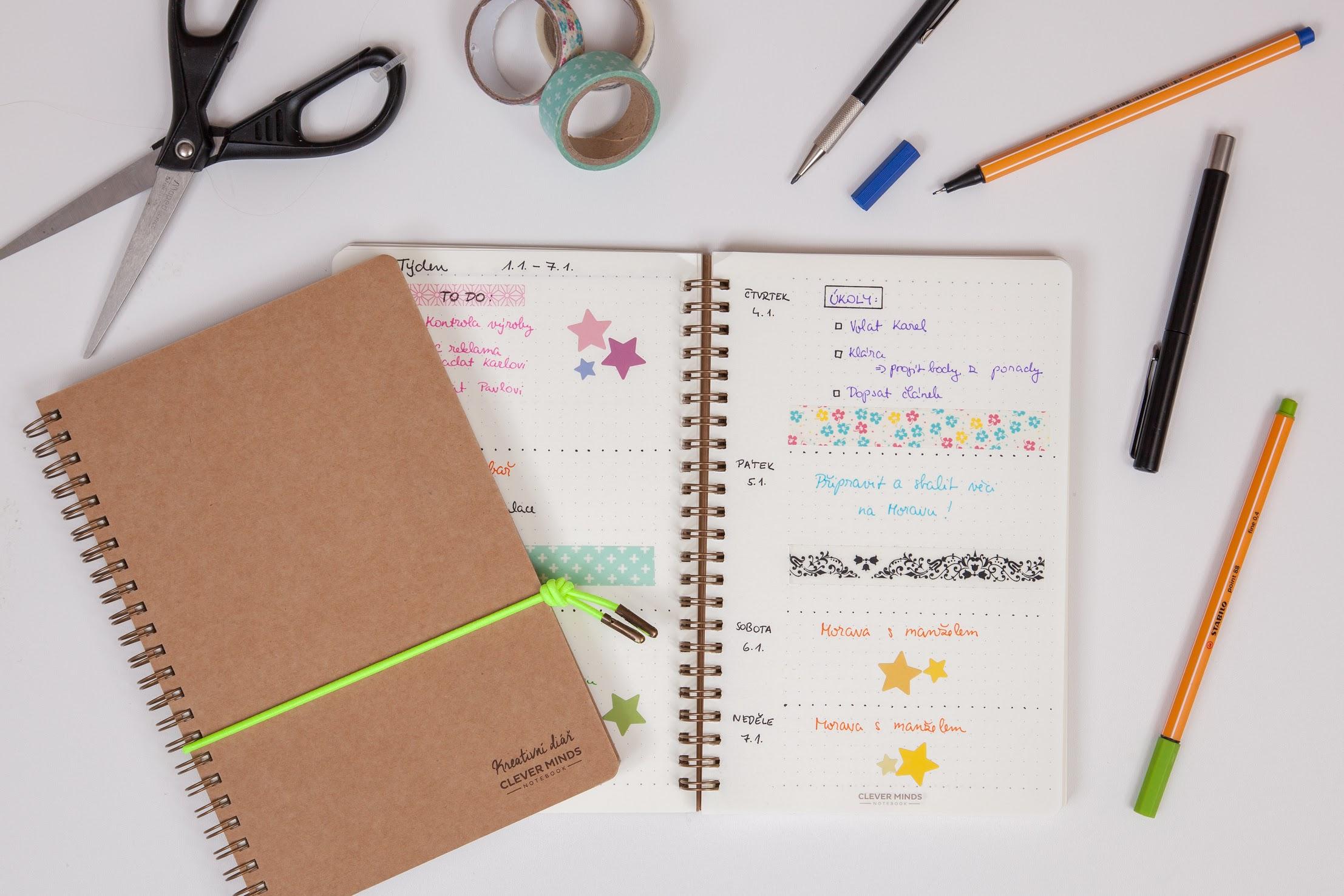 Kreativní diář, nebo bullet journal?